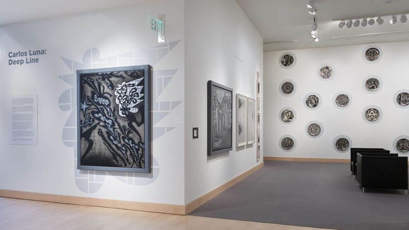 Deep Line, Drawings by Carlos Luna; Boca Raton Museum of Art, Boca Raton, FL